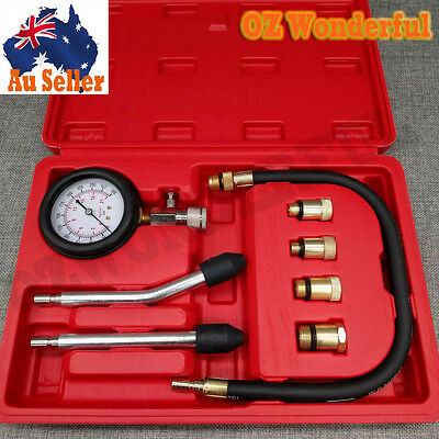 Petrol Engine Compression Tester Kit Set For Automotives and Motorcycles Tools