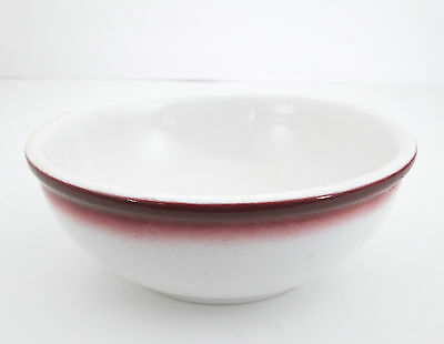 """Buffalo China Red Airbrush 5 5/8"""" Cereal Bowl White Restaurant Ware Soup"""