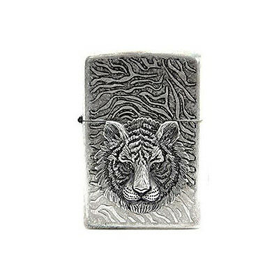 Tiger EYE Emblem Silver Zippo Lighter Windproof Made in USA GENUINE Packing