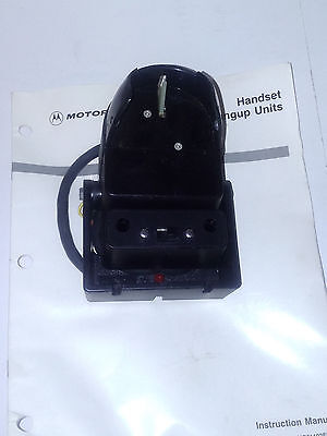 New Motorola syntor bus radio phone style handset hang up unit TLN4504A + Manual