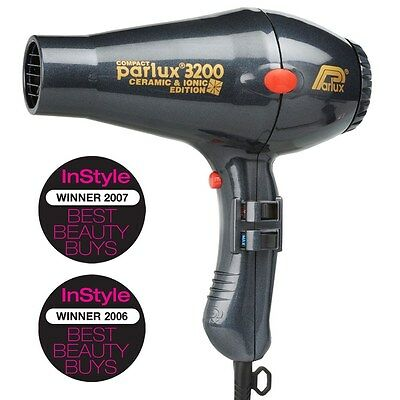 NEW Parlux 3200 Ceramic and Ionic Hair Dryer Charcoal
