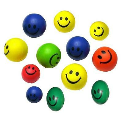 12 PCS Mini Neon Smile Smiling Face Relaxable Balls Elastic ball Hot Colorful1