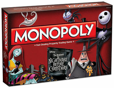 Nightmare Before Christmas Monopoly board game boardgame