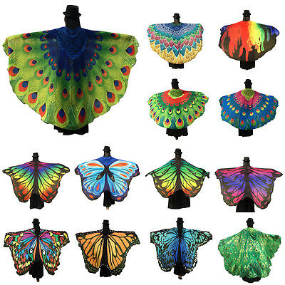 Fashion Womens Ladies Scarf Butterfly Wing Soft Long Shawl Blanket Beach towel