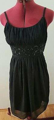 Portmans Black Dress With Bead Detailing Size 6
