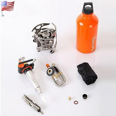 Multi Fuel Outdoor Gas Stove Backpacking Picnic Oil Furnace Camping Portable LS