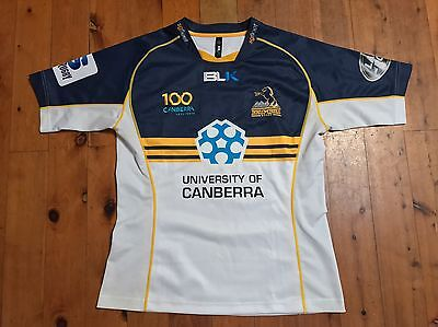 ACT Brumbies Super Rugby Heritage Home Jersey Shirt By BLK Sz Medium $159.95