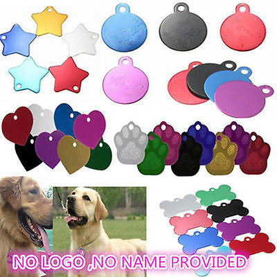 Bone Star Design Pet Dog Cat Puppy Animal Necklace Double Side Name ID Card Tags