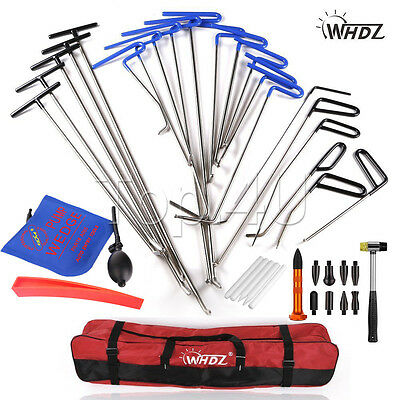 21x Car Auto Body Dent Removal Pdr Rod Tool Kit- Hail and Door Ding Repair ABC