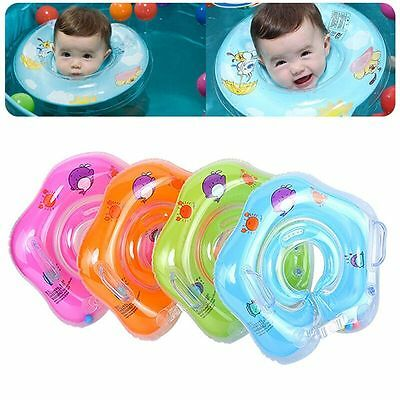 Inflatable Newborn Baby Infant Neck Swimming Float Circle Ring Toy Safety New