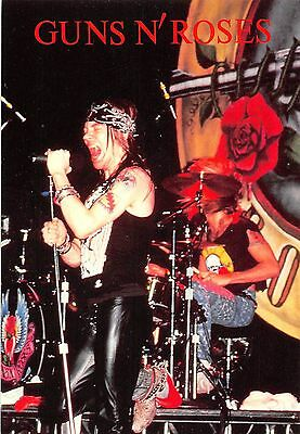 Guns n' Roses Axl Rose singing on stage, rock
