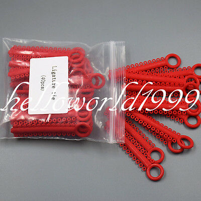 Dental Orthodontic Elastic Rubber Bands Red Color Ligature Ties 1040 pcs Rings