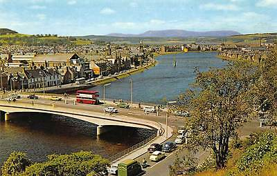 Inverness from The Castle Bridge Vintage Cars Voitures Pont