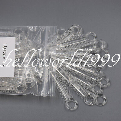 1 Pack 1040Pcs Clear Color Dental Orthodontics Elastic Ligature Ties Rubber Band