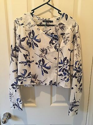 Women's Floral Light Jacket - Portmans - Size 12