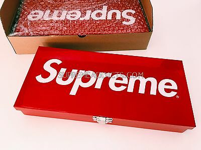 Supreme Large Metal Storage Box [Ss 2007] Lock Box Logo Chest Tool Red Case Ds