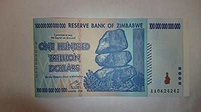 Reserve Bank Of Zimbabwe Z$ Dollar Banknote - 100 Trillion Dollars - MINT NEW