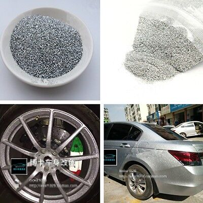 "Auto Car Paint Additive PET 6oz 0.4mm/0.016""Silver Metal Flake Glittering Bright"