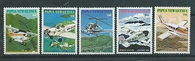 Papua New Guinea SG412-416 1981 Mission Aviation Unhinged Mint