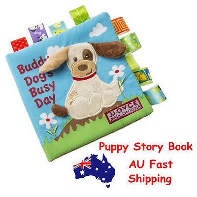 Animal Puppy Story Book Baby Toddler Interactive Education Soft Cloth Book