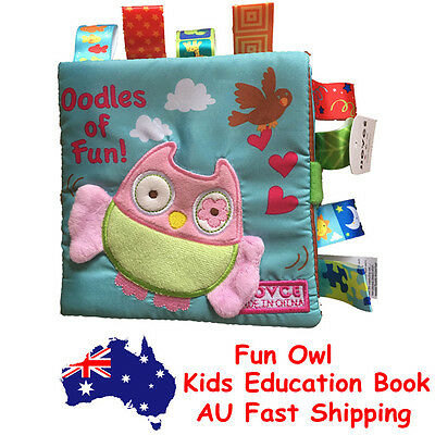 Animal Owl Story Book Baby Toddler Interactive Education Soft Cloth Book