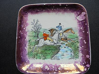 Gray's Pottery: Lustre Wear Pin Dish With Hunting Scene