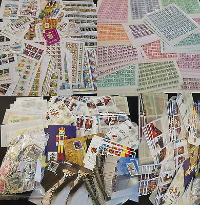 Large Collection Of 250 + Complete Sheets + Mini +Stamps Lot