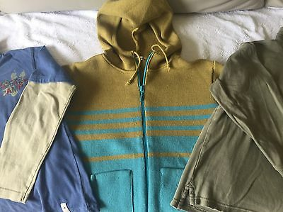 Kids wool blend hooded zip jacket and 2 sweatshirts (quality french brands)
