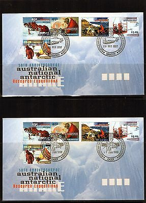 1997 AAT 50th Anniversary Of ANARE Set Of 4 Base Cancel FDC, Mint Condition
