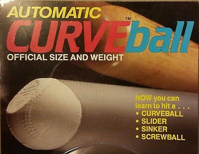 BASEBALL CURVEBALL- automatic. Rare and collectible. USA official size & weight.