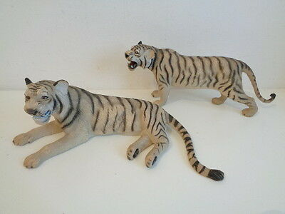 WHITE TIGER MALE & FEMALE ANIMAL MODELS by AAA - FREE POSTAGE