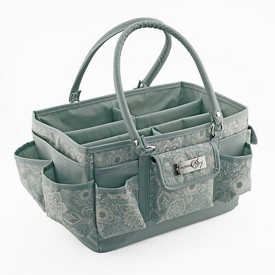 Everything Mary Deluxe Store & Tote Organiser Seafoam/White Floral | EVM9152-16