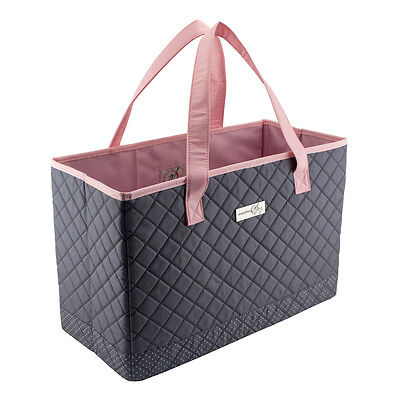 Everything Mary Quilted Sewing Machine Tote Grey/Pink | 43x20x28cm | EVM10143-3