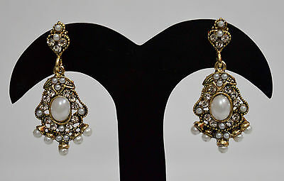 Indian Wedding Party Gold Plated Bridal Pearl Earrings Fashion Jewelry f5e143