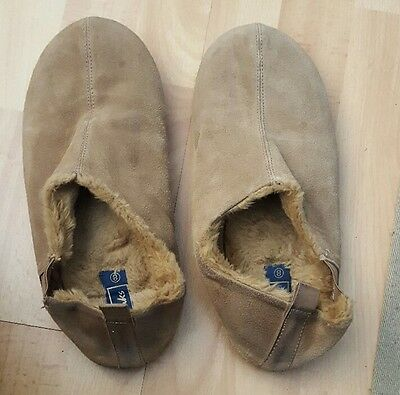 mens clarks suede slippers