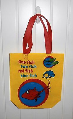 Dr. Seuss One Fish Two Fish Red Fish Blue Fish Reusable Shopping Tote Bag