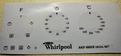 Whirpool AKP 490/IX  oven, cooker panel, decal, stickers, may suit others.