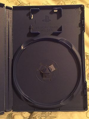 Replacement PS2 Game Case Blue With Memory Card Slot