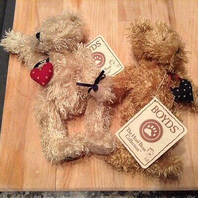 Boyds twin bears with lovehearts
