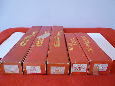 'oo' Gauge Tri Ang Five Empty Boxes From The Transcontinental Series