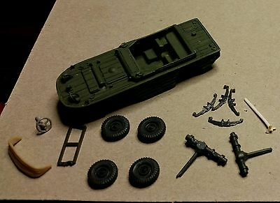 American WWII Ford Amphibious jeep. Resin model kit in 1/72 scale.