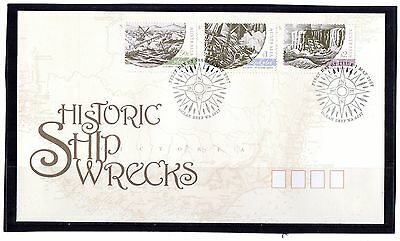 2007 Australia Historic Ship Wrecks Set Of 3 First Day Cover, Mint Condition