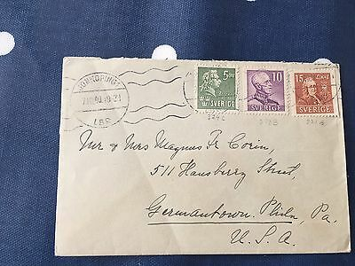 Sweden cover from Jonkoping to Germantown Philadelphia USA 7.10.1940