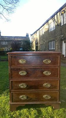 A Small Antique Early 19th Century Commode Chest of Drawers