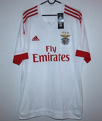 Benfica Portugal away shirt 15/16 Adidas BNWT Size L