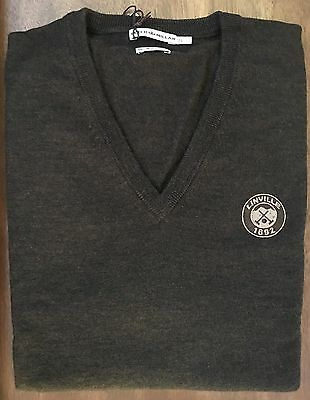 NEW Peter Millar Brown Merino Wool Linville V-Neck Golf Sweater Vest Size XL