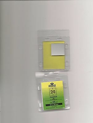 PRINZ STAMP MOUNTS CLEAR 21x24 STRIPS x25 IN PACK