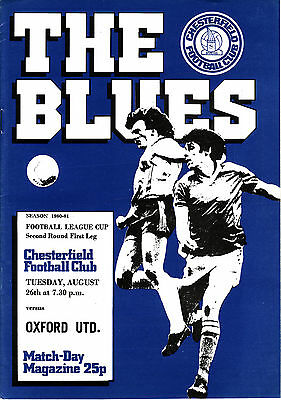 80/81 Chesterfield v Oxford United League Cup