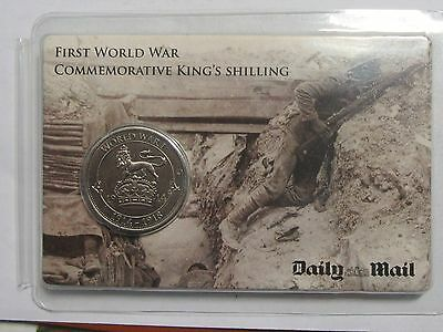 Daily Mail WW1 Commemerative Kings Shillings x 5