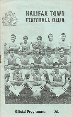 Halifax Town v Carlisle United, 26 March 1963, Division 3
